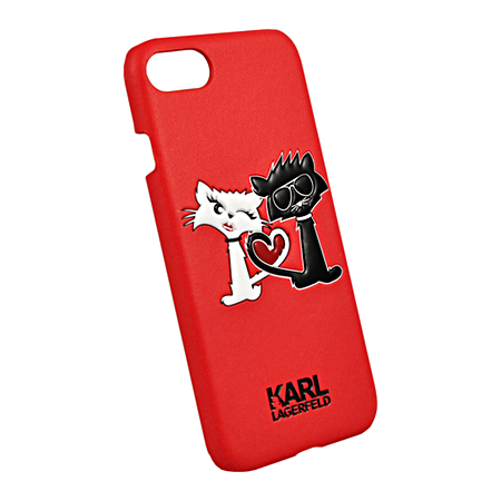 Накладка Karl Lagerfeld Choupette in Love Hard для iPhone 7 / 8 - Red