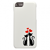 Накладка iCover Cats Silhouette 43 для iPhone 6 / 6s - White