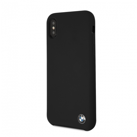 Накладка BMW Signature Liquid Silicone Hard для iPhone X / XS - Black