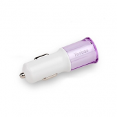 Автозарядка Yoobao для iPhone (USB+micro USB) - Violet