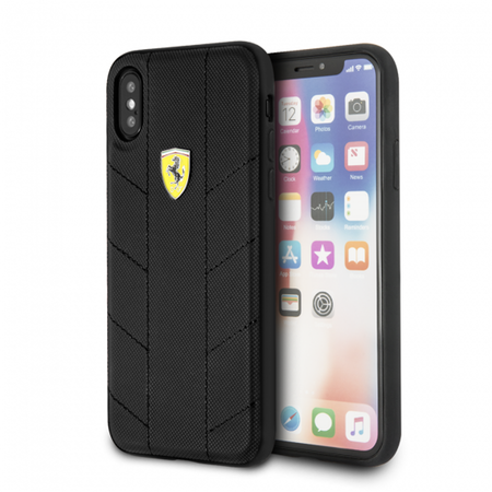 Накладка Ferrari On-Track SF Racing Tyres Hard PU для iPhone X / XS - Black