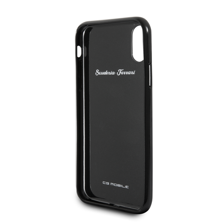 Накладка Ferrari Heritage Real Carbon Hard для iPhone X / XS - Black