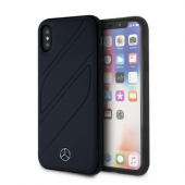 Накладка Mercedes Organic I Hard Leather для iPhone X / XS - Blue Abyss