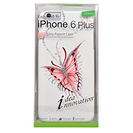 Накладка iCover Hand Printing для iPhone 6 Plus / 6s Plus - Happy Butterfly