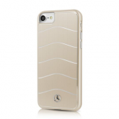 Накладка Mercedes Wave Vlll Hard Brushed Aluminium для iPhone 8 / 7 - Gold