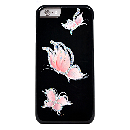 Накладка iCover Pure Butterfly для iPhone 6 / 6s - Black/Pink