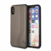 Накладка Mercedes New Bow l Hard Leather для iPhone X / XS - Brown