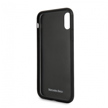 Накладка Mercedes Dinamic Hard PU Carbon для iPhone X / XS - Black