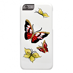 Накладка iCover Hand Printing для iPhone 6 / 6s - Butterfly Ruby