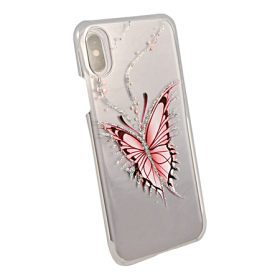Накладка iCover Hand Printing для iPhone X / XS - Happy Butterfly