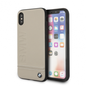 Накладка BMW Signature Hard Logo imprint для iPhone X / XS - Taupe