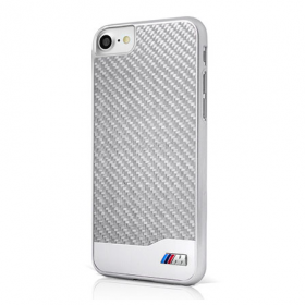 Накладка BMW M-Collection Hard Aluminum & Carbon для iPhone 7 / 8 - Silver