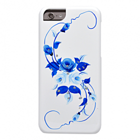 Накладка iCover Hand Printing для iPhone 6 / 6s - Vintage Rose\Blue
