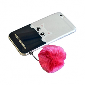 Накладка Karl Lagerfeld K-Peek A Boo Hard Transparent для iPhone 6 / 6s - Navy/Pink