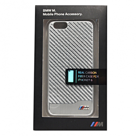 Накладка BMW M-Collection Hard Aluminum & Carbon для iPhone 6 / 6s - Silver