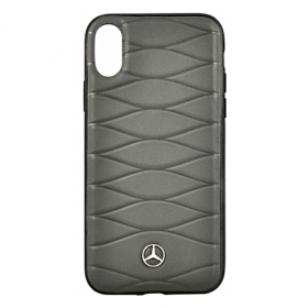 Накладка Mercedes Pattern III Hard Leather для iPhone X / XS - Dark Grey